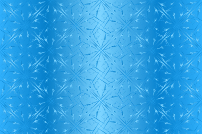 Seamless pattern, geometric shapes on a blue gradient background