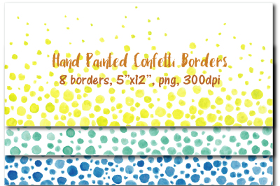 Hand painted confetti border