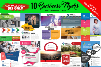 10 Corporate Flyers Template Pack