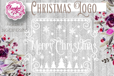 Merry Christmas Logo Style Cut Files  SVG/EPS/DXF/PNG