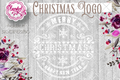 Christmas Logo Cut File - SVG/DXF/EPS/PNG