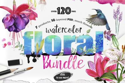 Big Floral Bundle 120 PNG