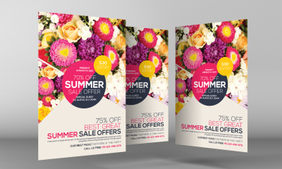 Exotic Summer Sale Flyer