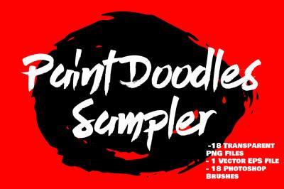 Paint Doodles Sampler - Vector, PNG, PSD Brushes