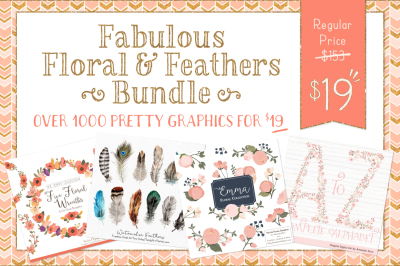 Fabulous Floral Graphics & Vector Bundle - Save 88%