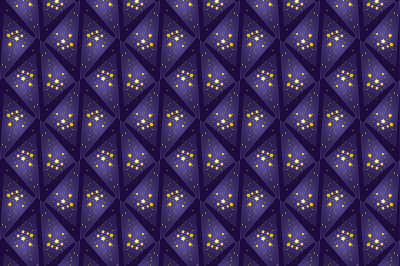 Seamless pattern, stars and triangles, two files, a JPEG for printing and EPS