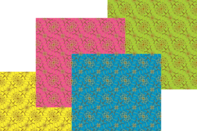 Seamless background, lace pattern, abstract colors, set of four a JPEG for printing and four EPS file