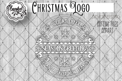 Season's Greetings Logo Style Cut File