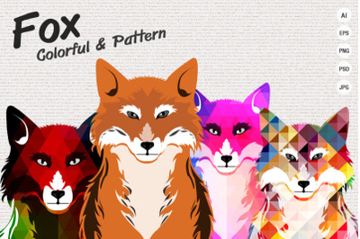 FOX - Colorful and Pattern