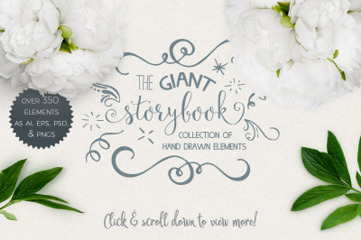 Giant Storybook Collection of Hand Drawn Elements