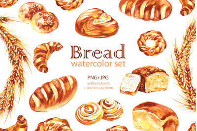 Watercolor Bread cliparts