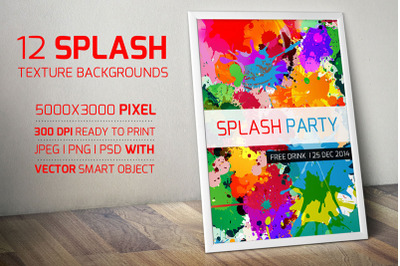 Colorful Splash Objects and Backgrounds