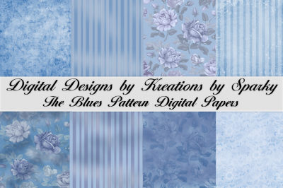 The Blues Pattern Digital Paper