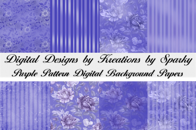 Purple Pattern Digital Background Papers