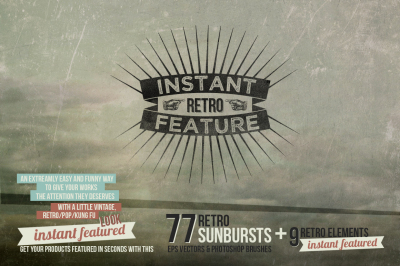 Instant featured - 77Retro Sunbursts
