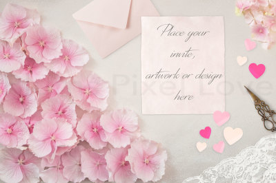 Styled stock photography, notepaper, wedding invitation, announcement