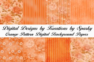 Orange Pattern Digital Background Papers