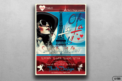 French Party Flyer Template V2