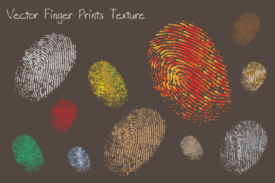Vector finger prints texture & objects