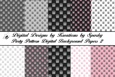 Party Pattern Digital Background Papers