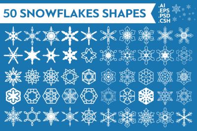 Snowflakes Vector Shapes Vol.1