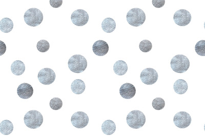 Silver dots seamless pattern
