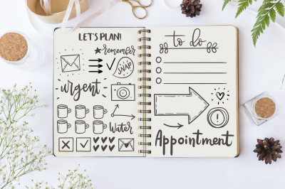 Big set of cute planner stickers