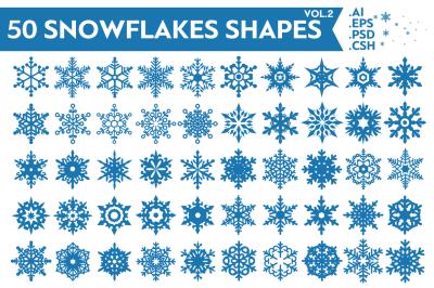 Snowflakes Vector Shapes Vol.2