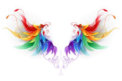 Fluffy Rainbow Wings