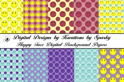 Happy Face Digital Background Papers