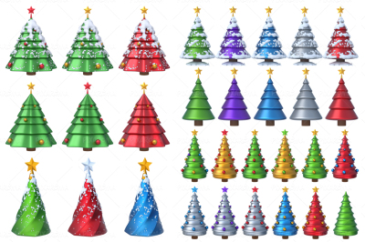Christmas Tree 3D Set