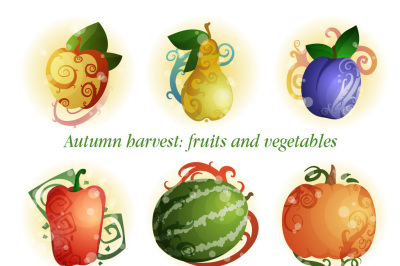 Autumn harvest: fruits and vegetables