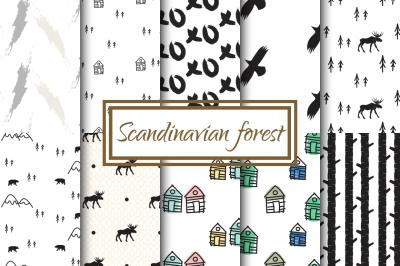 Scandinavian Forest Seamless Pattern