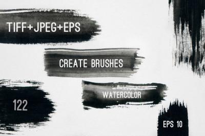 122 Watercolor Strokes