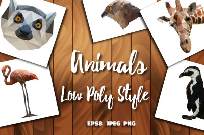 Animals Low Poly Style