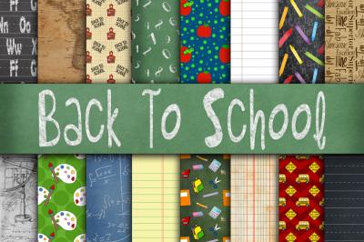 Back To School Digital Paper Textures