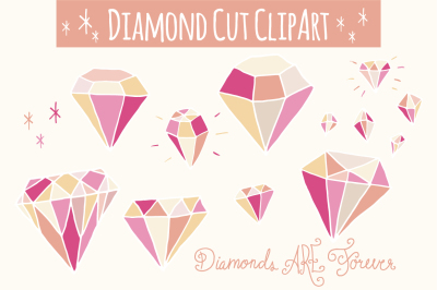 Pink Diamonds Clip Art & Vectors