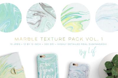 Marble Suminagashi Textures digital paper pack