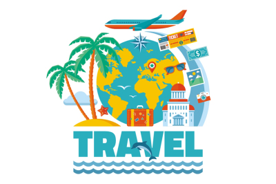Summer Travel - Vector Concept Illustration
