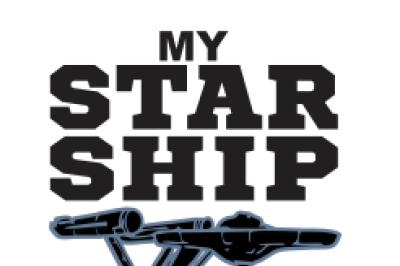 Star Ship Tshirt SVG DXF EPS Cutting File