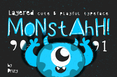 Monstahh Layered Typeface