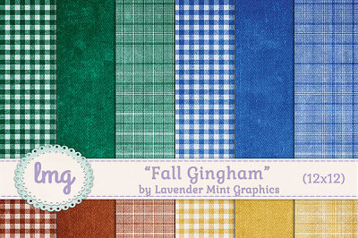 Fall Gingham Plaid Backgrounds