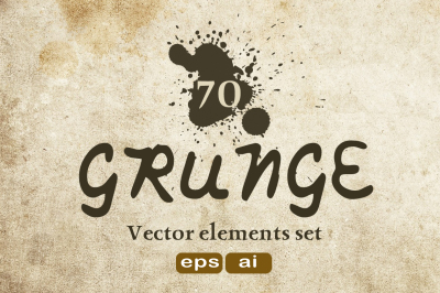 70 Grunge texture - Vector elements set