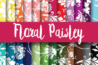 Floral Paisley Digital Papers