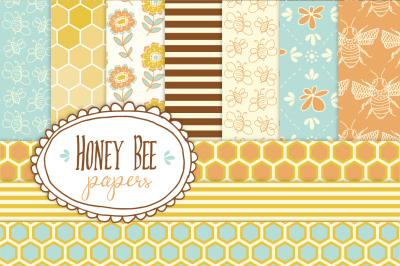 Honey Bee - Seamless Pattern Papers