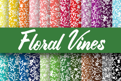Floral Vines Digital Paper