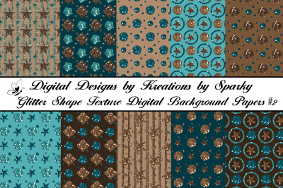 Glitter Shapes Texture Digital Background Papers #2