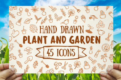 Plant ang Garden - Hand Drawn icons