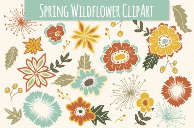 Spring Wildflower Clip Art & Vectors