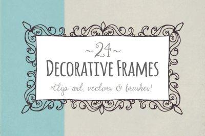 Decorative Frames Clip Art & Vectors